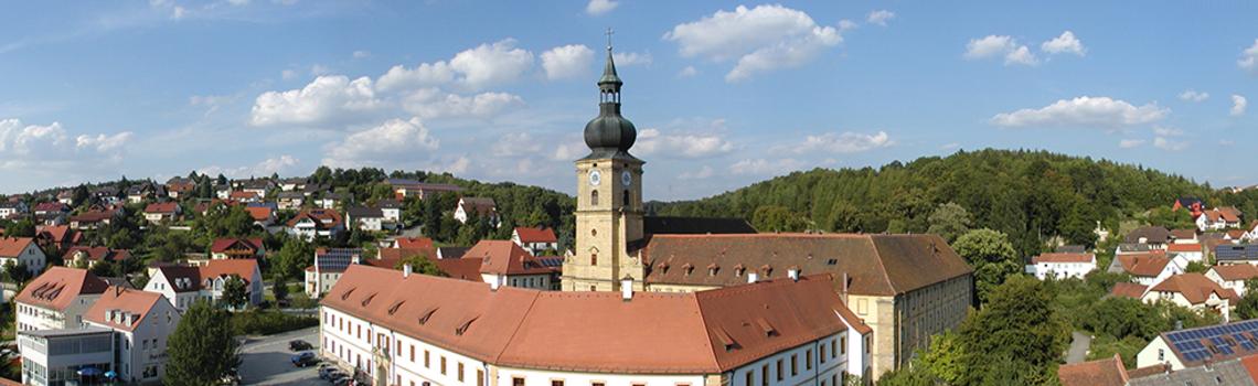 Panoramabild Ensdorf mit Kloster